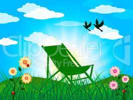 Garden Summer Represents Heat Home And Season