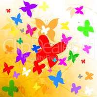 Butterflies Summer Shows Summertime Hot And Flying