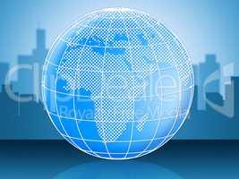 World Globe Represents Globally Globalise And Global