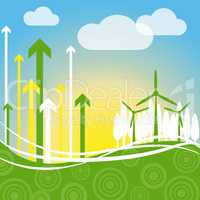 Wind Power Indicates Renewable Resource And Environment