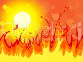 Fire Copyspace Represents Backgrounds Blaze And Solar