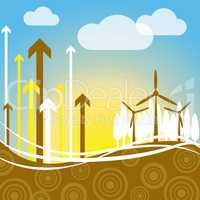 Wind Power Indicates Renewable Resource And Electricity