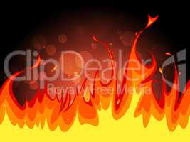 Copyspace Fire Indicates Flame Blaze And Fiery