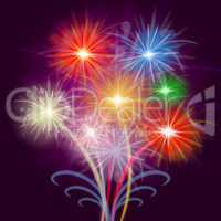 Celebrate Fireworks Shows Explosion Background And Celebrating