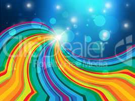 Glow Swirl Indicates Blank Space And Background
