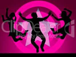 Excitement Disco Represents Nightclub Activity And Party