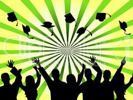Graduation Education Means Studying Ceremony And Masters