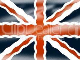 Union Jack Shows National Flag And Britain