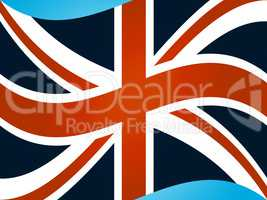 Union Jack Shows Great Britain And Flag