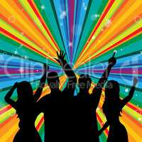 Disco Dancing Indicates Discotheque Joy And Parties