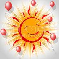 Joy Smile Represents Fun Smiling And Sun