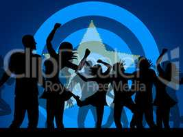 Party Dancing Shows Celebration Nightclub And Discotheque