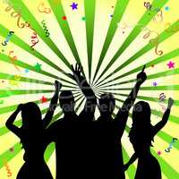 Disco Celebrate Represents Dancing Fun And Dancer