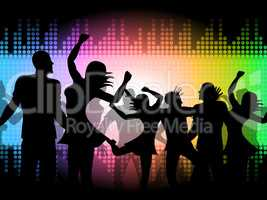 Party Disco Shows Celebrations Fun And Discotheque