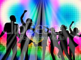 Party Disco Represents Discotheque Nightclub And Parties