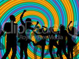 Disco Party Represents Discotheque Dancing And Nightclub
