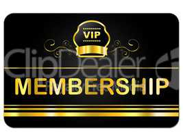 Membership Card Shows Very Important Person And Application