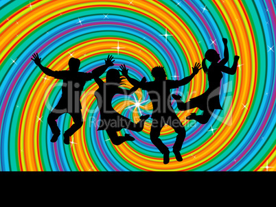 Joy Swirl Represents Happiness Joyful And Youngsters