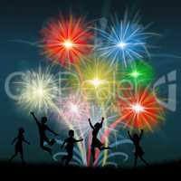 Play Fireworks Indicates Celebrate Festive And Children