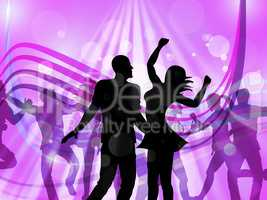 Disco Dancing Represents Parties Discotheque And Cheerful
