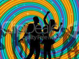 Disco Dancing Indicates Dancer Music And Discotheque