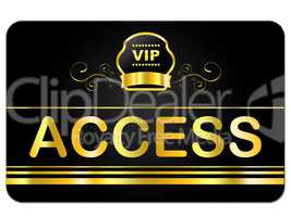 Membership Card Represents Very Important Person And Access