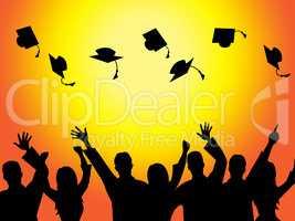 Graduation Education Means Graduate Diploma And Train