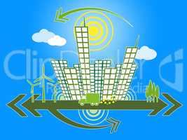 Office Buildings Represents Background Abstract And Cityscape