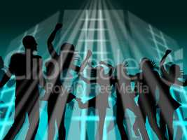 Disco Dancing Indicates Dancer Dance And Discotheque