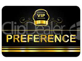Membership Card Means Very Important Person And Celebrity