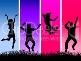 Excitement Grass Represents Elation Pasture And Grassland