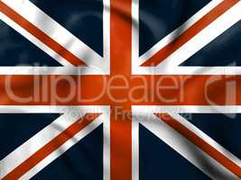 Union Jack Means English Flag And Britain