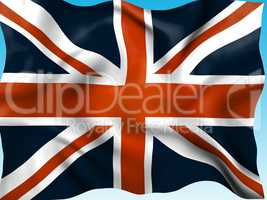 Union Jack Means British Flag And Country