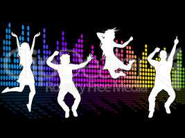 Dancing Excitement Indicates Sound Track And Soundtrack