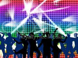 Disco Dancing Shows Nightclub Discotheque And Fun