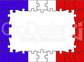 France Jigsaw Represents Blank Space And Copy-Space