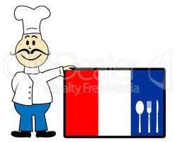 Netherlands Chef Indicates Cooking In Kitchen And Catering