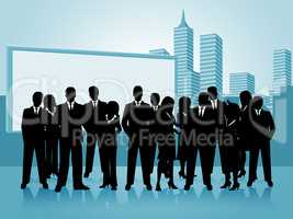 Business People Shows Businesspeople Office And Businesswoman