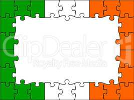 Ireland Jigsaw Represents Blank Space And Copy-Space