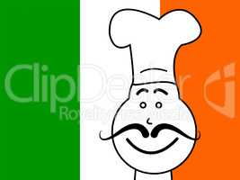 Ireland Chef Shows Cooking In Kitchen And Catering