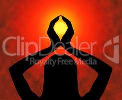 Yoga Pose Indicates Spiritual Enlightenment And Calm