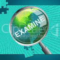 Examine Magnifier Represents Check Up And Checking