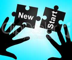 New Start Means Up To Date And Action