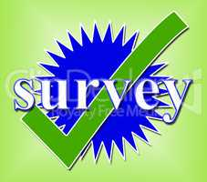 Survey Tick Shows Confirm Opinion And Feedback