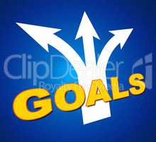 Goals Arrows Shows Targeting Direction And Aspirations