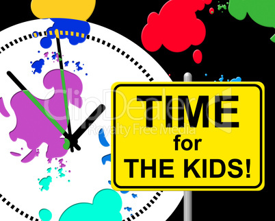 Time For Kids Indicates Right Now And Child