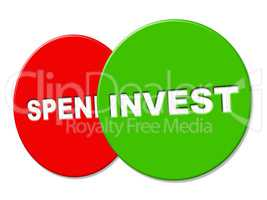 Invest Sign Represents Return On Investment And Advertisement