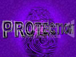 Protection Fingerprint Means Security Encrypt And Secured