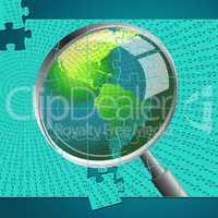 Magnifying Glass Indicates Examination Investigation And Examine
