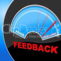 Excellent Feedback Shows Review Surveying And Satisfaction